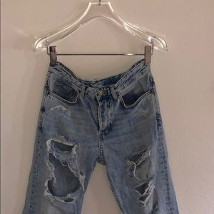 H&M Ripped Boyfriend Jeans